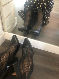 Mesh western boots