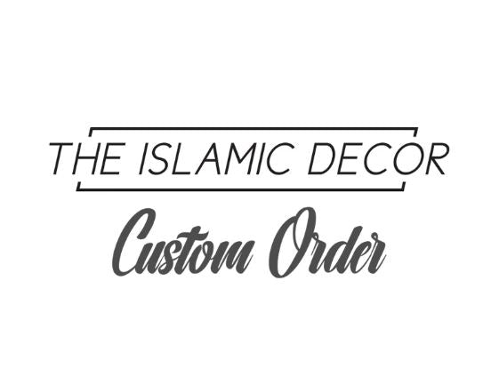 Custom Order - Dining v.6 on Clear Acrylic