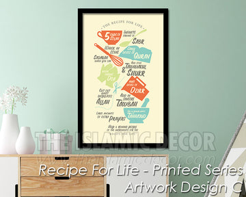 Recipe for Life - Printed Series1 - Artwork Design C