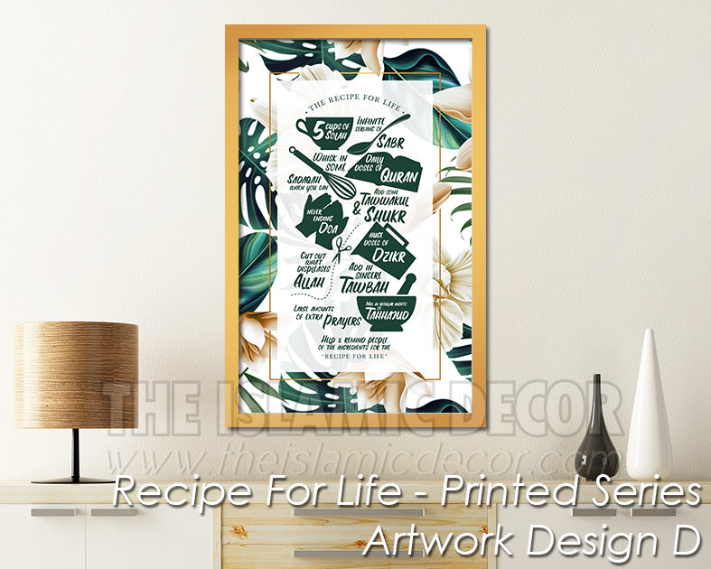 Recipe for Life - Printed Series1 - Artwork Design D