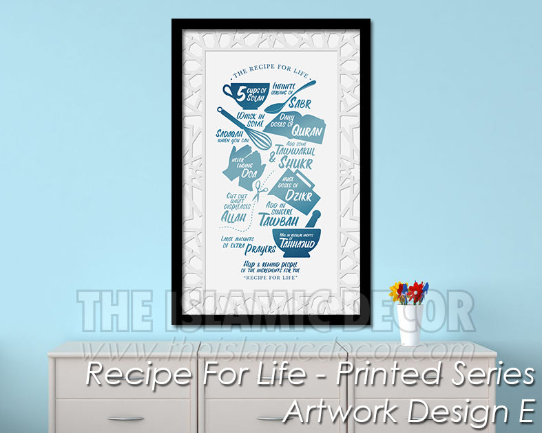 Recipe for Life - Printed Series1 - Artwork Design E