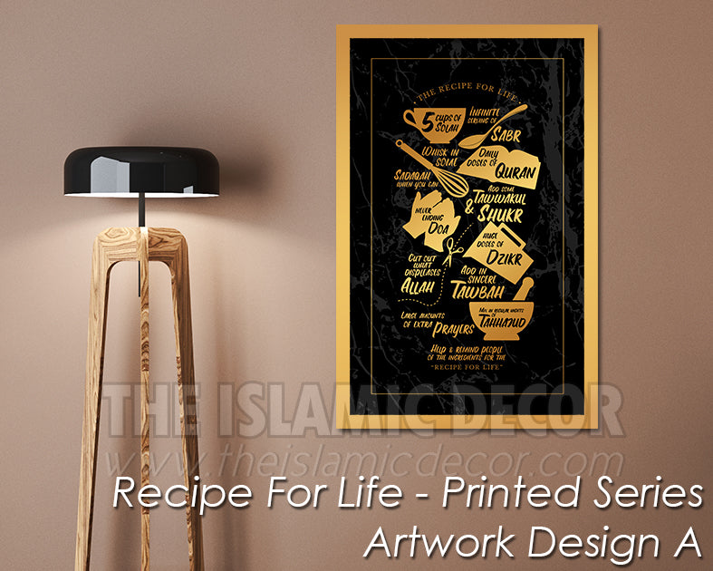 Recipe for Life - Printed Series1 - Artwork Design A