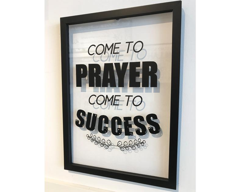A' Size Frame Acrylic - Come to Prayer