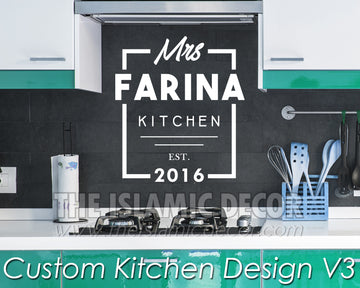 Custom Kitchen Design Version 3 Decal