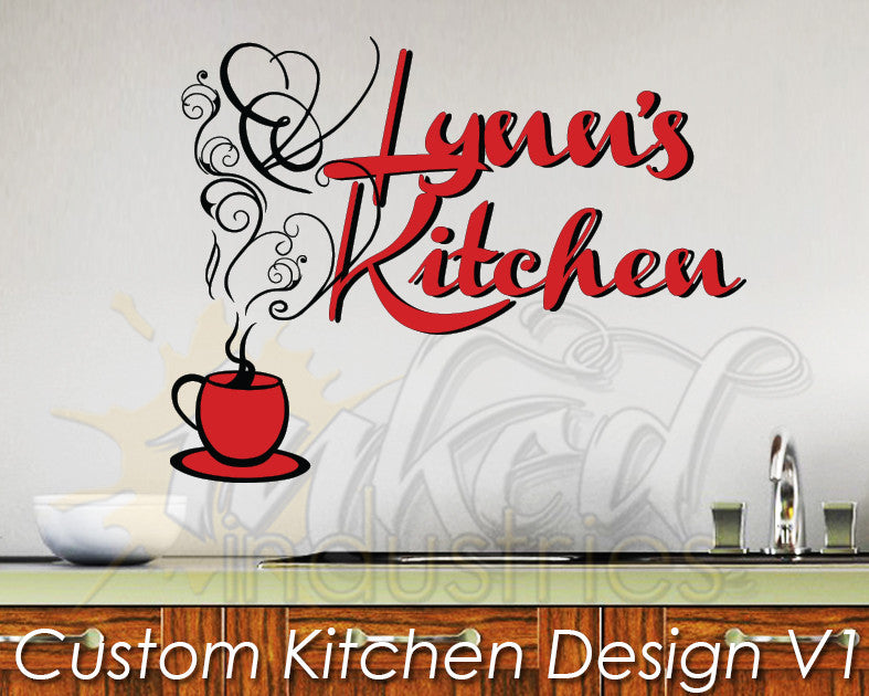 Custom Kitchen Design Version 1 Wall Decal - The Islamic Decor - 1