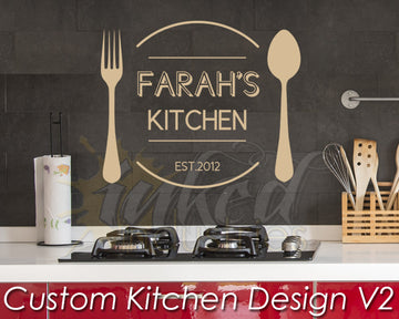 Custom Kitchen Design Version 2 Decal - The Islamic Decor - 1