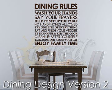 Dining Design Version 02 Decal - The Islamic Decor - 1