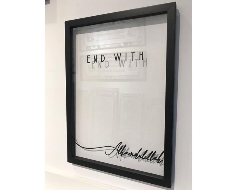 A' Size Frame Acrylic - With (End With)
