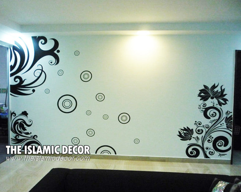 Floral Set Design Version 01 Wall Decal - The Islamic Decor