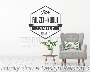 Family Name Design Version 3