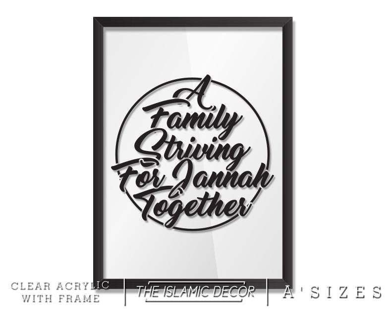 A' Size Frame Acrylic - Family Striving v2