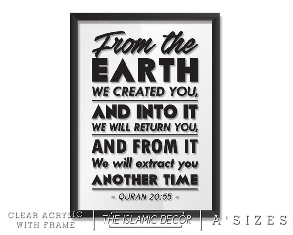 A' Size Frame Acrylic - From the Earth