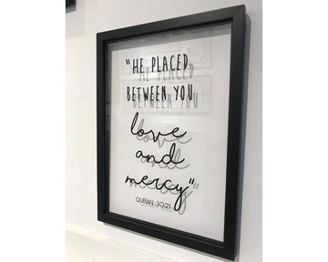 A' Size Frame Acrylic - He placed between you