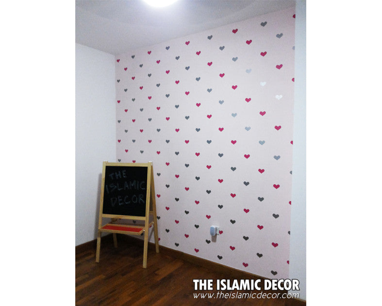 Hearts Shape Design Version 1 - The Islamic Decor