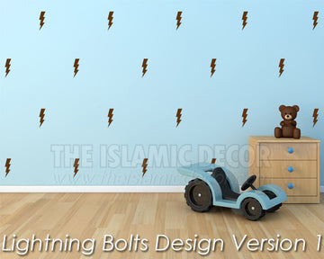 Lightning Bolts Design Version 1 - The Islamic Decor
