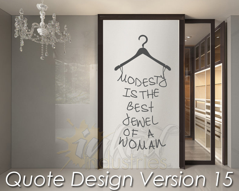 Quote Design Version 15 Decal - The Islamic Decor - 1