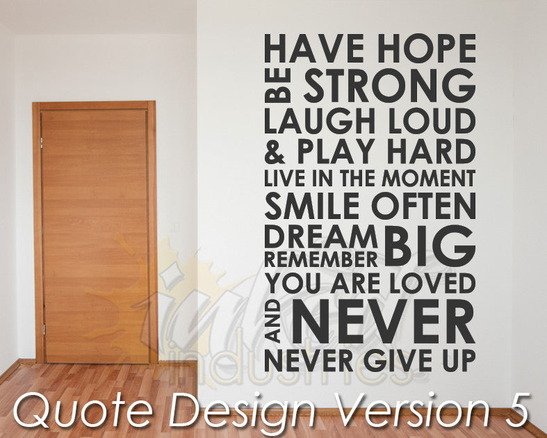Quote Design Version 05 Decal - The Islamic Decor - 1
