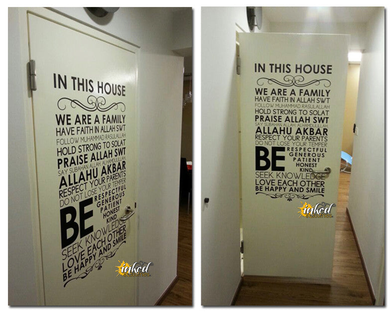Quote Design Version 06 Decal - The Islamic Decor - 9