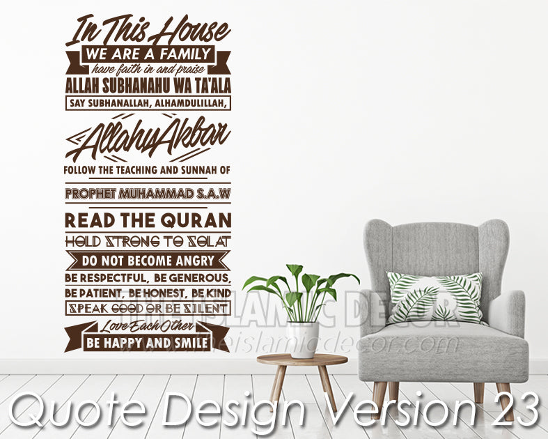 Quote Design Version 23 Decal