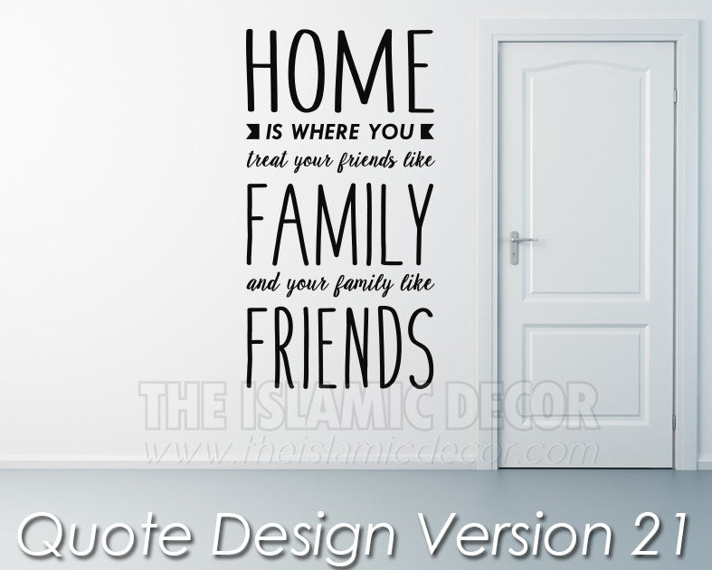 Quote Design Version 21 Decal - The Islamic Decor - 1