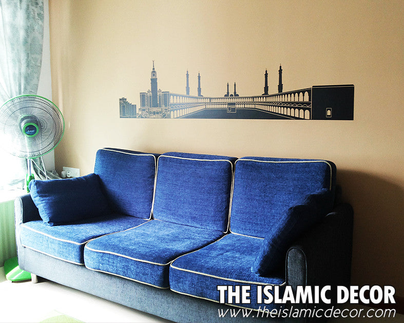Silhouette of Mecca Design V 02 Wall Decal - The Islamic Decor - 3