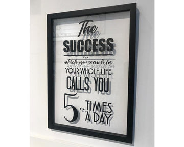 A' Size Frame Acrylic - The Success v1