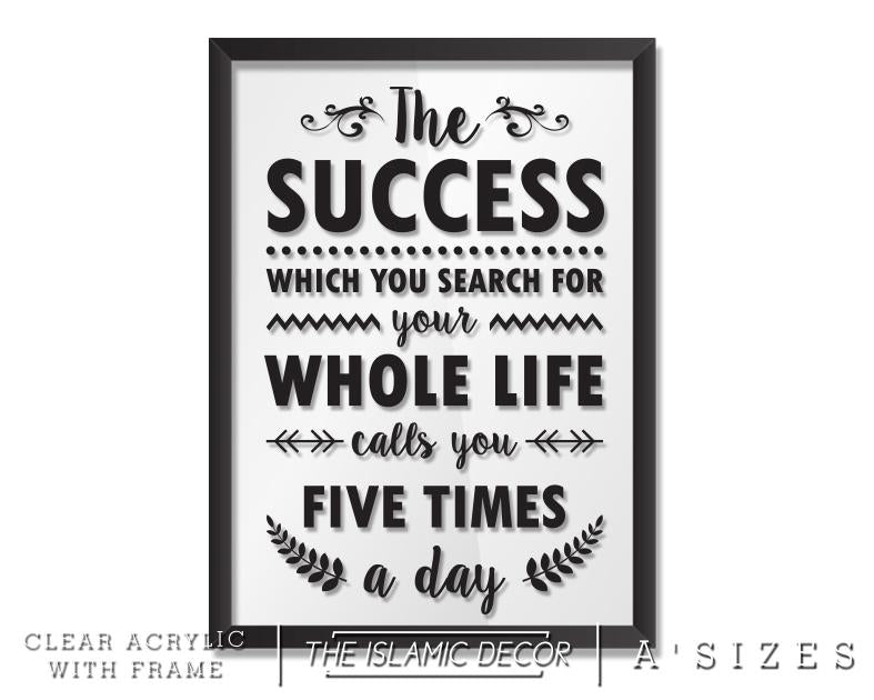 A' Size Frame Acrylic - The Success v2
