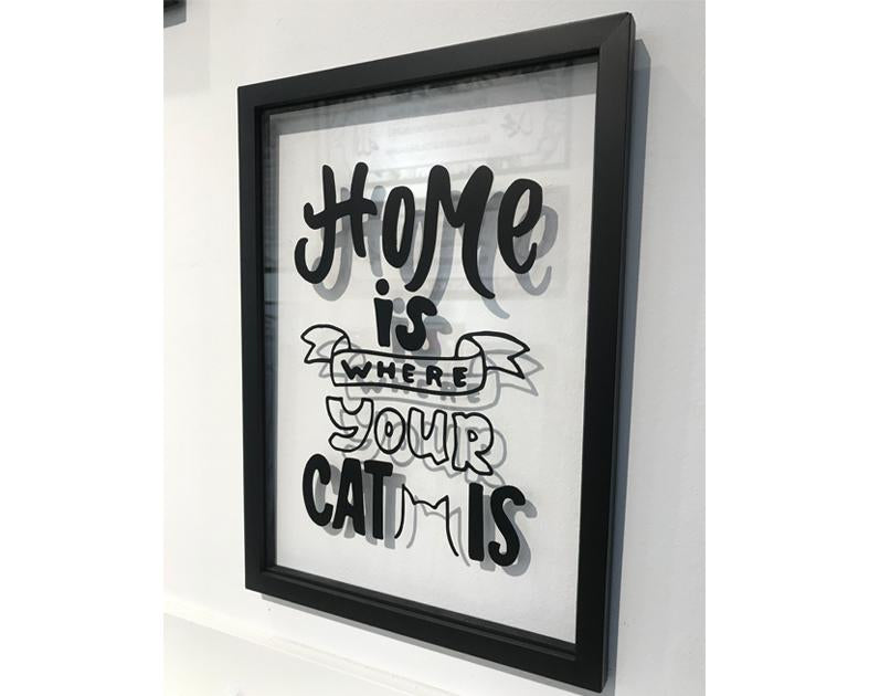 A' Size Frame Acrylic - Where your Cat is