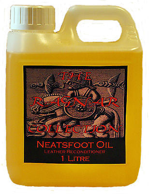 NEATSFOOT OIL - 1 Litre - Re-conditions old & dried out leather and softens new