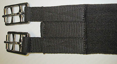 "EQUI-SOFT GIRTH in Black & Brown-Roller Buckles-18"" to 54""-Made in UK"