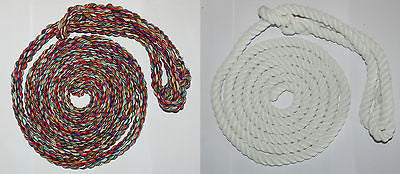 British-Made ROPE HALTERS-TWIN PACK- Soft and Durable-  White & Multi-coloured