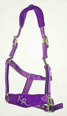 Padded Fleece Headcollar.Stitched Noseband.Pink,Purple,Black,Red,Blue. All Sizes
