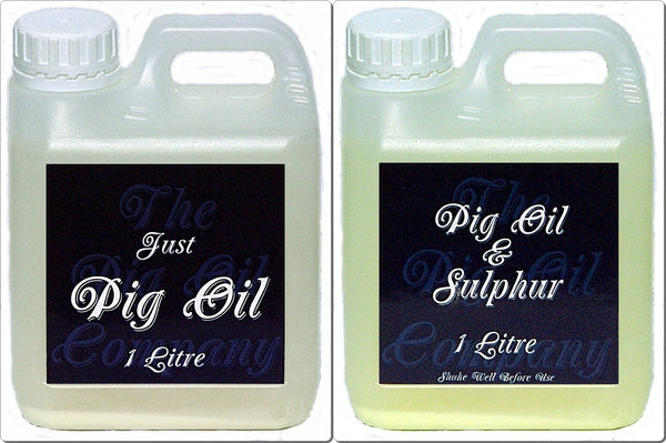 Twin Pack 1 Litre-Pig Oil & Pig Oil & Sulphur- The Pig Oil Company