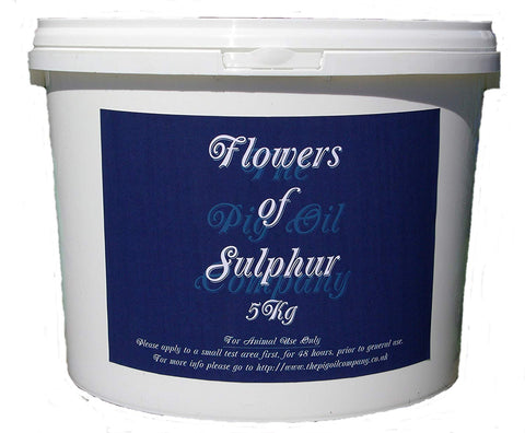 Flowers of sulphur 5kg- pink or black