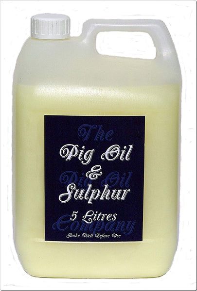 PIG OIL & SULPHUR - Ideal for Horses Mane and Feathers-5Liters