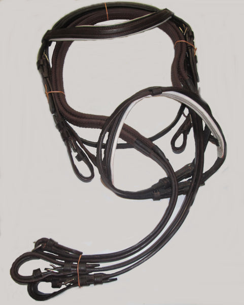 BROWN LEATHER WITH WHITE PADDED NOSEBAND