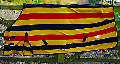Newmarket Gold Stripe Fleece/Cooler/Travel Rug - Excellent Quality - All Sizes