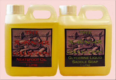 Leather Care Pack - NEATSFOOT OIL + GLYCERINE TACK CLEANER- 1 Litre
