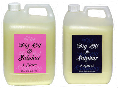 PIG OIL & SULPHUR - 10 Litres - Protect Your Horse This Winter