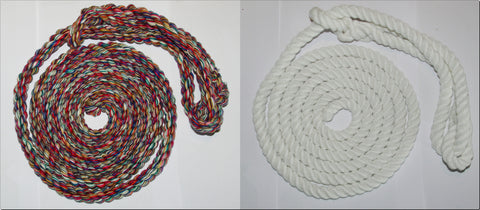 British-Made ROPE HALTERS-TWIN PACK- Soft/Durable-  White & Multi