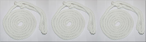British-Made ROPE HALTERS-TRIPLE PACK- Soft/Durable-  White & Multi