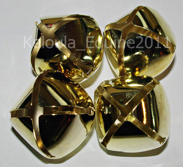 set of 4 brass coloured harness bells