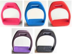 "Childs Polymer Stirrups Light Weight with Rubber Treads 4.0"" in 5 Colours"