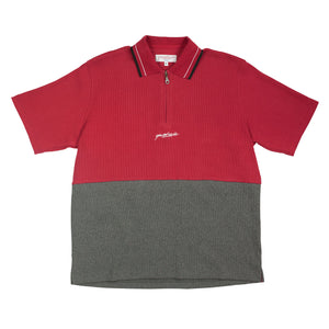 Tiger 1/4 Zip Polo Ruby/Heather