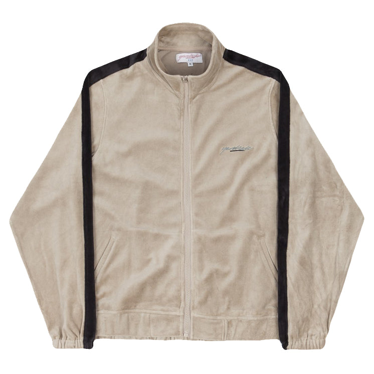 Velour Track Top (Beige/Black)