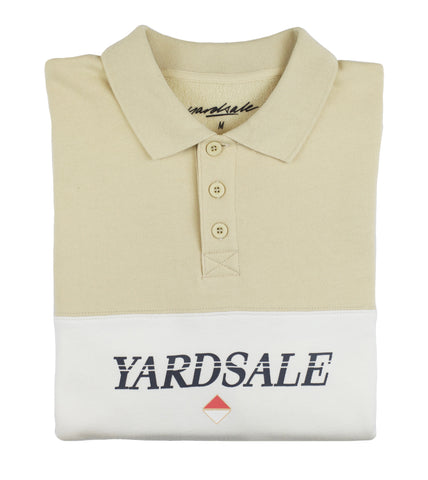 Beige/White Diamond Polo sweat