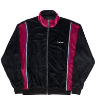 Black/Claret velour track-top