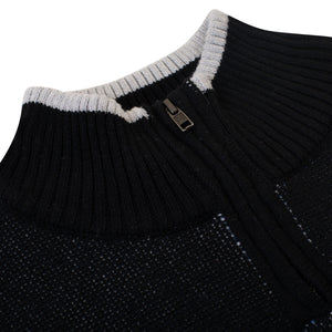 Blaze Knit Quarterzip (Black)