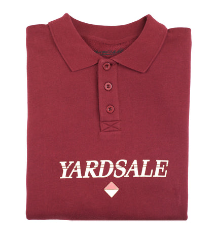 Burgundy Diamond Polo Sweat