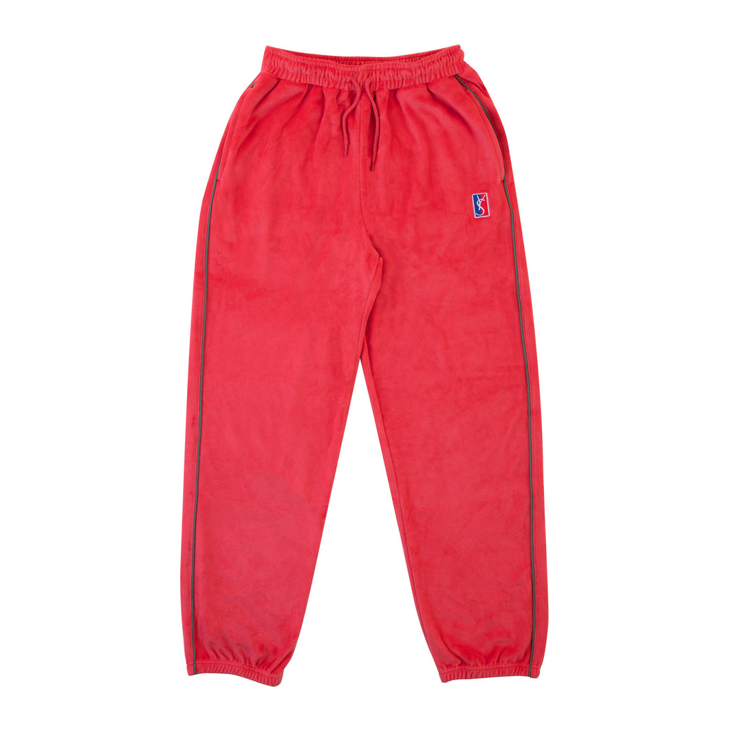 Velour Joggers (Red)